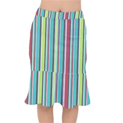 Colorful Striped Background. Mermaid Skirt