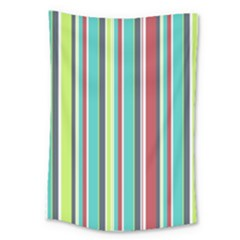 Colorful Striped Background. Large Tapestry