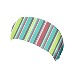 Colorful Striped Background. Yoga Headband