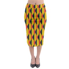 Triangles pattern         Midi Pencil Skirt