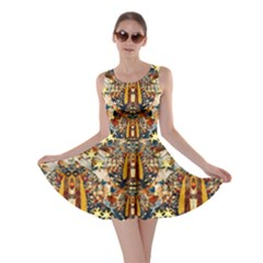 Lady Panda Goes Into The Starry Gothic Night Skater Dress