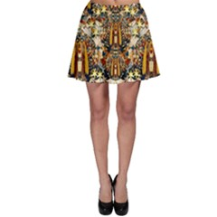 Lady Panda Goes Into The Starry Gothic Night Skater Skirt
