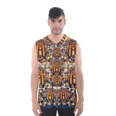 Lady Panda Goes Into The Starry Gothic Night Men s Basketball Tank Top