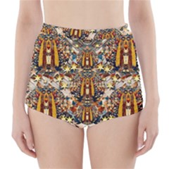 Lady Panda Goes Into The Starry Gothic Night High-Waisted Bikini Bottoms