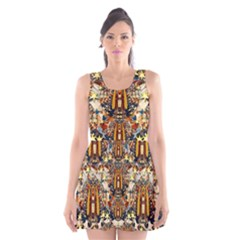 Lady Panda Goes Into The Starry Gothic Night Scoop Neck Skater Dress