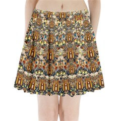 Lady Panda Goes Into The Starry Gothic Night Pleated Mini Skirt