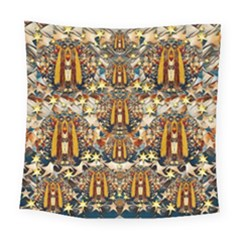 Lady Panda Goes Into The Starry Gothic Night Square Tapestry (Large)