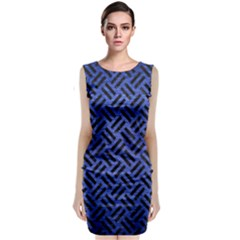 WOV2 BK-MRBL BL-BRSH (R) Classic Sleeveless Midi Dress