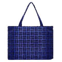 WOV1 BK-MRBL BL-BRSH (R) Medium Zipper Tote Bag