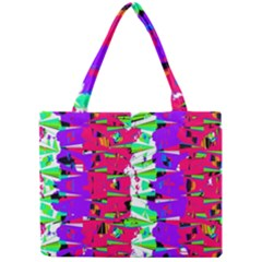 Colorful Glitch Pattern Design Mini Tote Bag