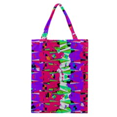 Colorful Glitch Pattern Design Classic Tote Bag