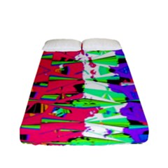 Colorful Glitch Pattern Design Fitted Sheet (Full/ Double Size)
