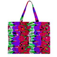 Colorful Glitch Pattern Design Zipper Mini Tote Bag