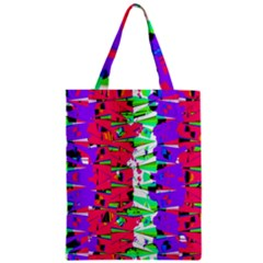 Colorful Glitch Pattern Design Zipper Classic Tote Bag