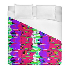 Colorful Glitch Pattern Design Duvet Cover (Full/ Double Size)