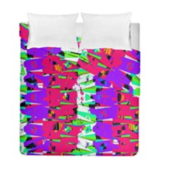 Colorful Glitch Pattern Design Duvet Cover Double Side (Full/ Double Size)