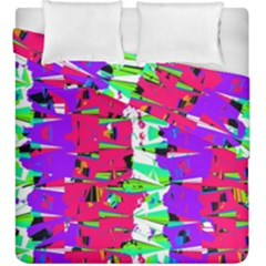 Colorful Glitch Pattern Design Duvet Cover Double Side (King Size)