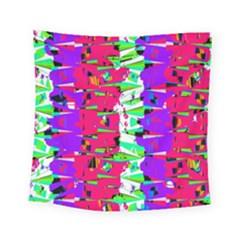 Colorful Glitch Pattern Design Square Tapestry (Small)