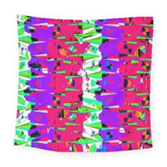 Colorful Glitch Pattern Design Square Tapestry (Large)