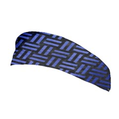 Woven1 Black Marble & Blue Brushed Metal Stretchable Headband