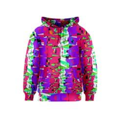 Colorful Glitch Pattern Design Kids  Zipper Hoodie