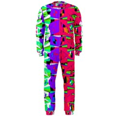 Colorful Glitch Pattern Design OnePiece Jumpsuit (Men)
