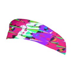 Colorful Glitch Pattern Design Stretchable Headband