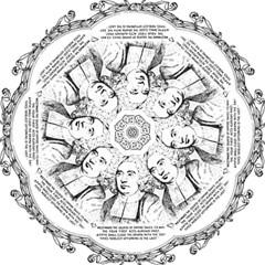 Seal of Berkeley, California Hook Handle Umbrellas (Medium)