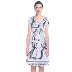 Seal of Berkeley, California Short Sleeve Front Wrap Dress