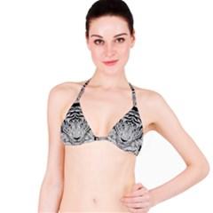 Tiger Head Bikini Top