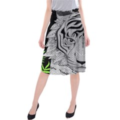 Tiger Head Midi Beach Skirt