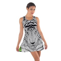 Tiger Head Cotton Racerback Dress