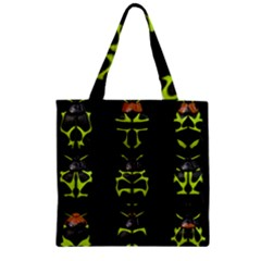 Beetles Insects Bugs Zipper Grocery Tote Bag