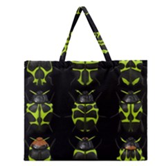 Beetles Insects Bugs Zipper Large Tote Bag