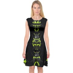 Beetles Insects Bugs Capsleeve Midi Dress