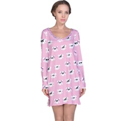 Girly Girlie Punk Skull Long Sleeve Nightdress