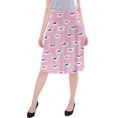 Girly Girlie Punk Skull Midi Beach Skirt