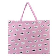 Girly Girlie Punk Skull Zipper Large Tote Bag