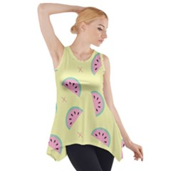 Watermelon Wallpapers  Creative Illustration And Patterns Side Drop Tank Tunic