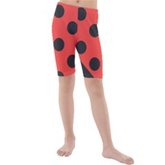 Abstract Bug Cubism Flat Insect Kids  Mid Length Swim Shorts