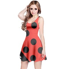 Abstract Bug Cubism Flat Insect Reversible Sleeveless Dress