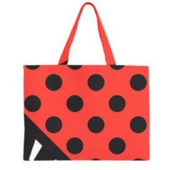 Abstract Bug Cubism Flat Insect Large Tote Bag