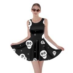 Skull Pattern Skater Dress