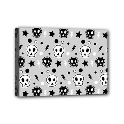 Skull Pattern Mini Canvas 7  x 5