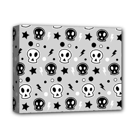 Skull Pattern Deluxe Canvas 14  x 11