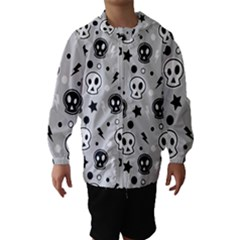 Skull Pattern Hooded Wind Breaker (Kids)