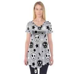 Skull Pattern Short Sleeve Tunic