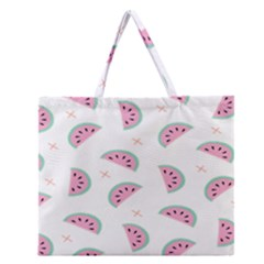 Watermelon Wallpapers  Creative Illustration And Patterns Zipper Large Tote Bag