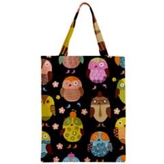 Cute Owls Pattern Zipper Classic Tote Bag