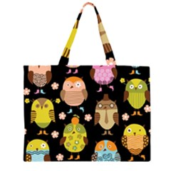 Cute Owls Pattern Large Tote Bag